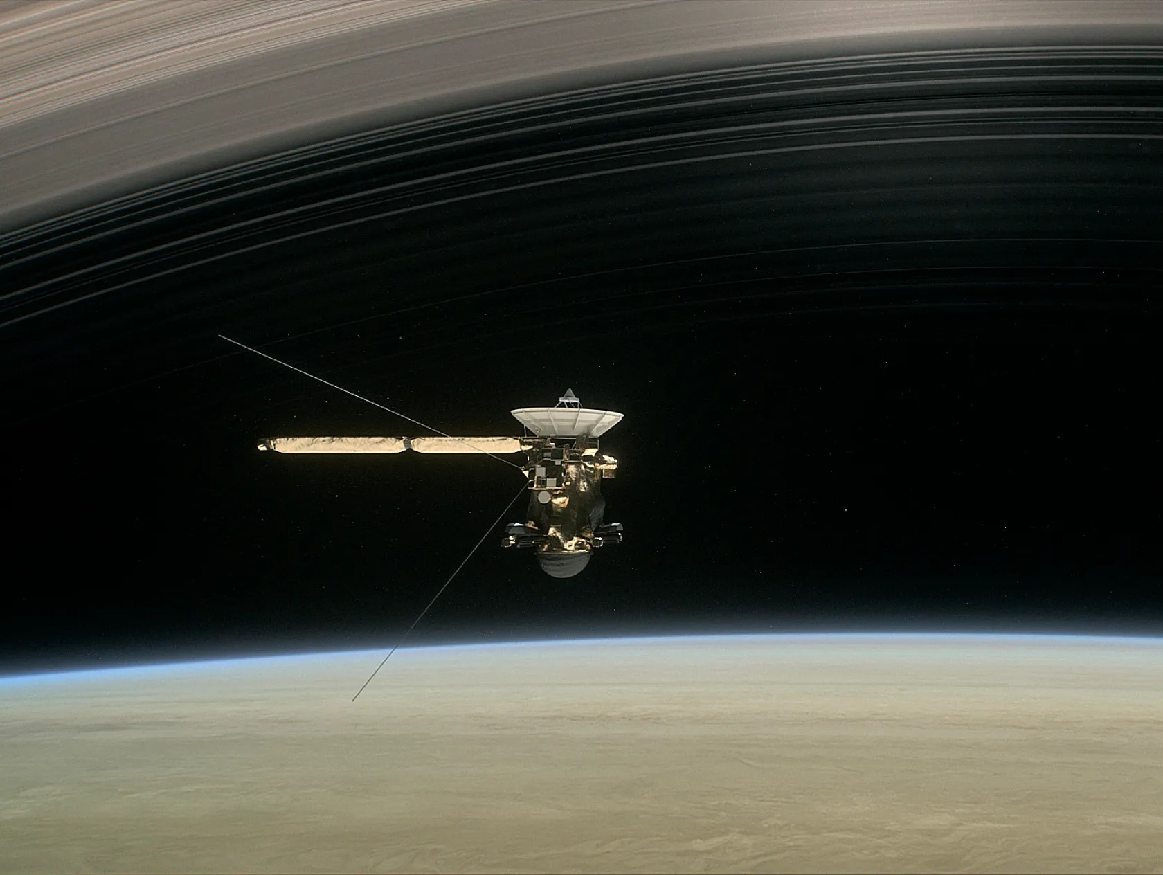 Live stream Cassini spacecraft sends final images before