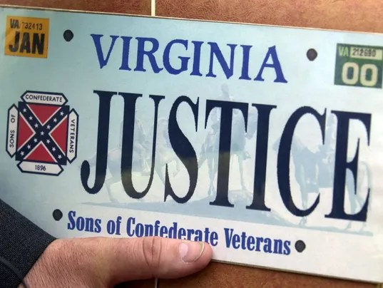 AP CONFEDERATE FLAG VIRGINIA PLATES A USA VA