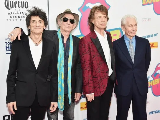 The Rolling Stones celebrate the New York opening of