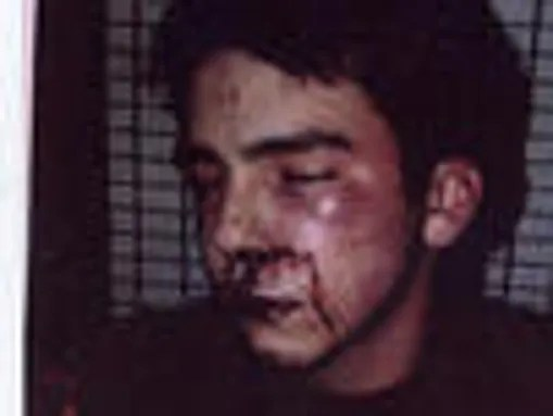 Andrew Caspi, then 17, as he looked following his arrest