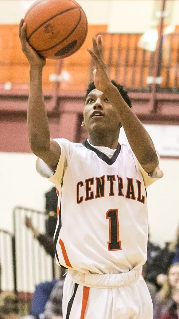 Courtney Batts (1) and his Central York teammates will