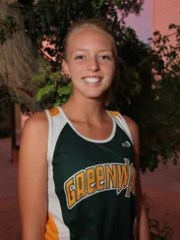 Kara Zahariades, Greenway senior cross country runner,