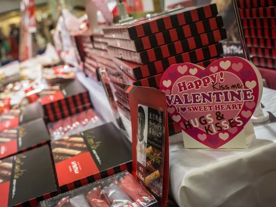 In Japan Women Give Gifts On Valentines Day Men