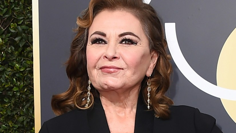 Roseanne Barr at the Golden Globe Awards in January.