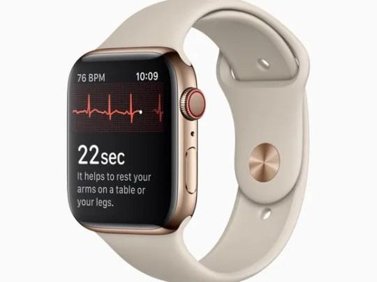 An image of an Apple Watch Series 4.