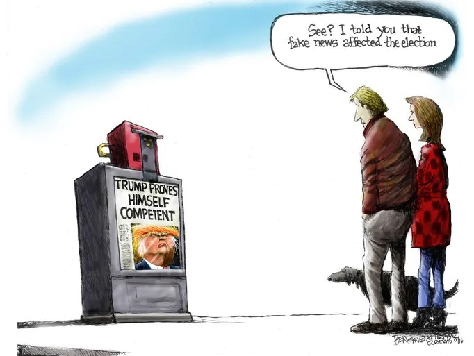 Image result for cartoons fake news