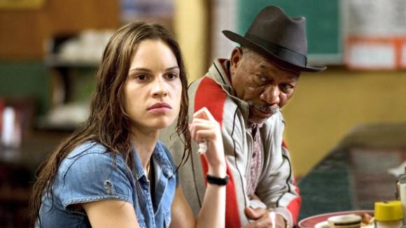 "Hilary Swank and Morgan Freeman in ""Million Dollar"
