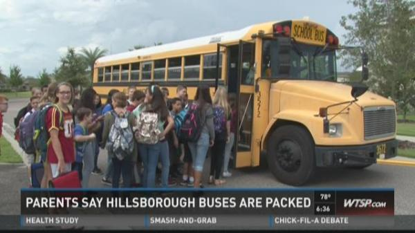Hillsborough parents complain of overcrowded buses