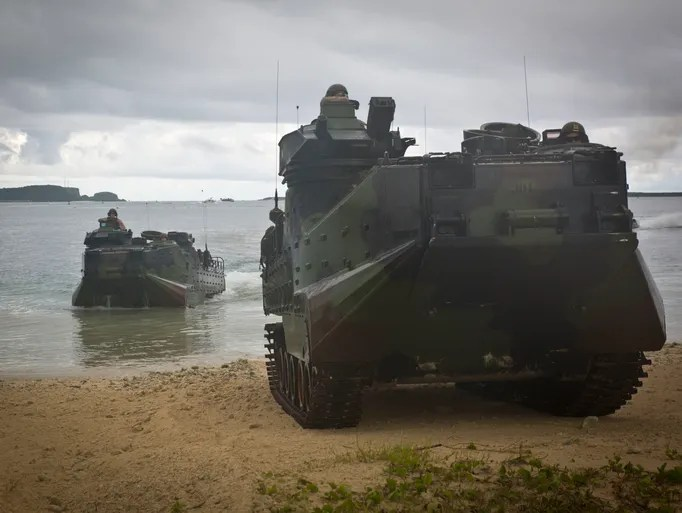 U.S. Marines with Landing Force Cooperation Afloat