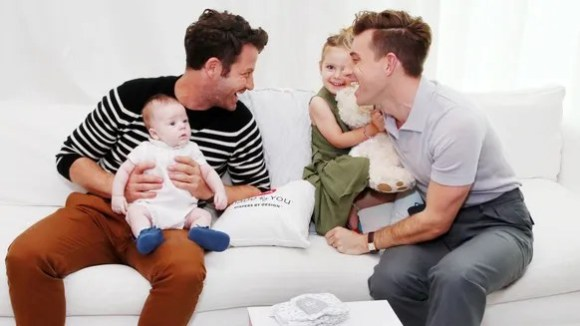 Nate Berkus and family sharing a happy moment