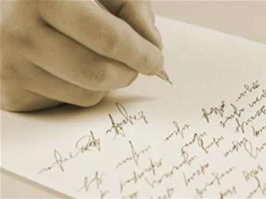 Handwritten letters are more personal than a text or