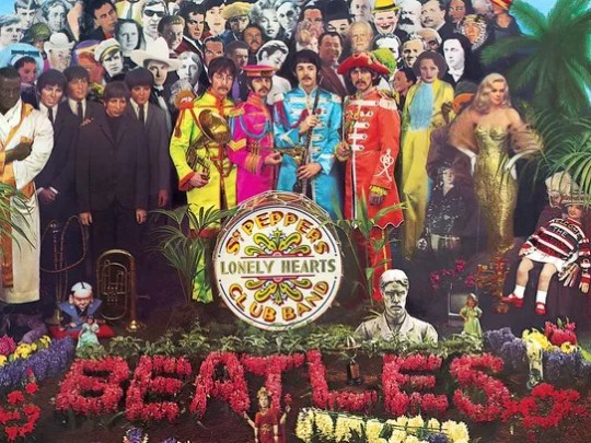 """This is the cover of the Beatle's album """"Sgt. Pepper's"""