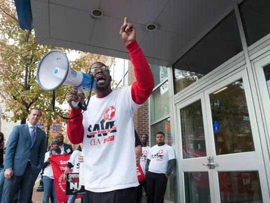 Activist Gary Frazier with Save Camden Public Schools