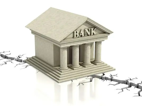Image result for Pictures of a crumbling bank