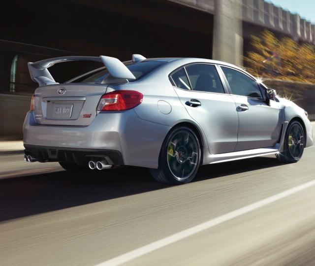 Subarus Wrx Sti Looks Downright Ominous From The Rear