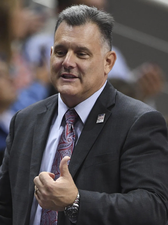 USA Gymnastics President Steve Penny during the women's
