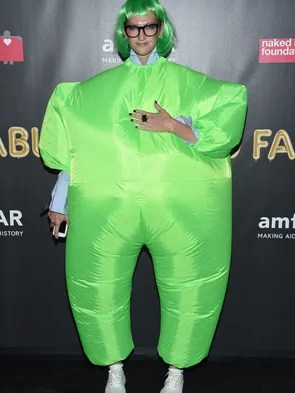 Designer Jenna Lyons proved that green was in for Halloween.