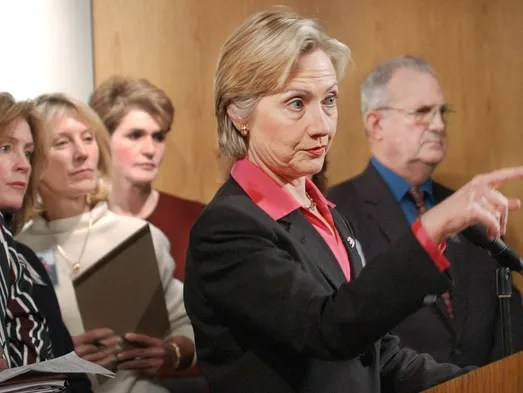 On Hillary's big night, many newspapers focused on Bill