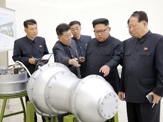 This undated picture released by North Korea's official