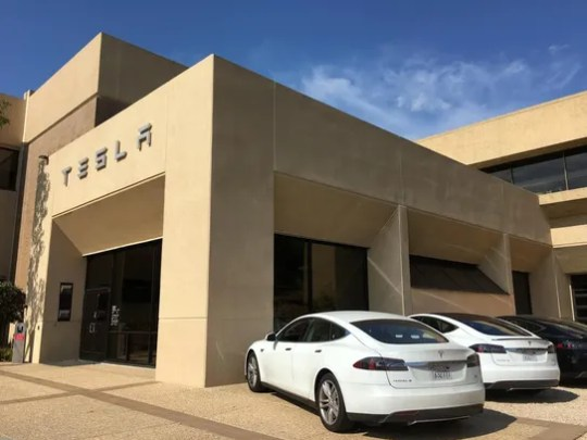 Tesla unveiled its Autopilot features to reporters