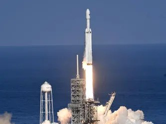 On it first demonstration flight, SpaceX's Falcon Heavy rocket lifted off from Kennedy Space Center's pad 39A on Feb. 6, 2018.