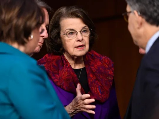 Democratic Sen. Dianne Feinstein of California is among