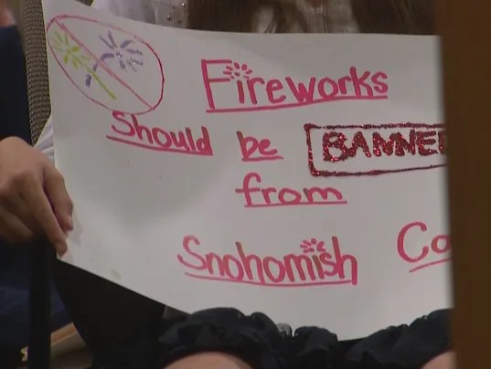 Concerned citizens ask for Snohomish County fireworks ban