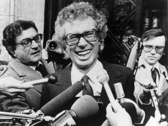 Ken Taylor, Canadian Ambassador to Iran, laughs as