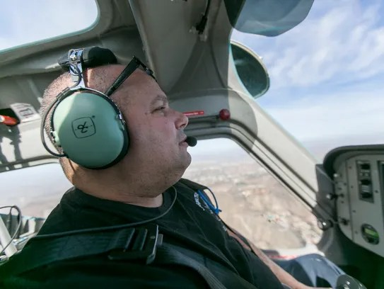 Johnathan Smith pilots a rented aircraft out of  Glendale