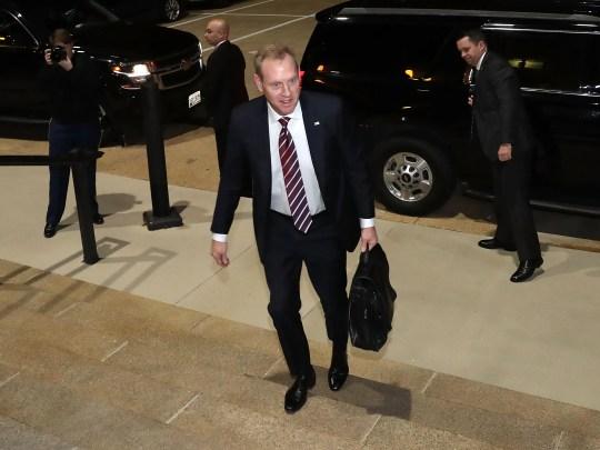Acting U.S. Defense Secretary Patrick Shanahan arrives