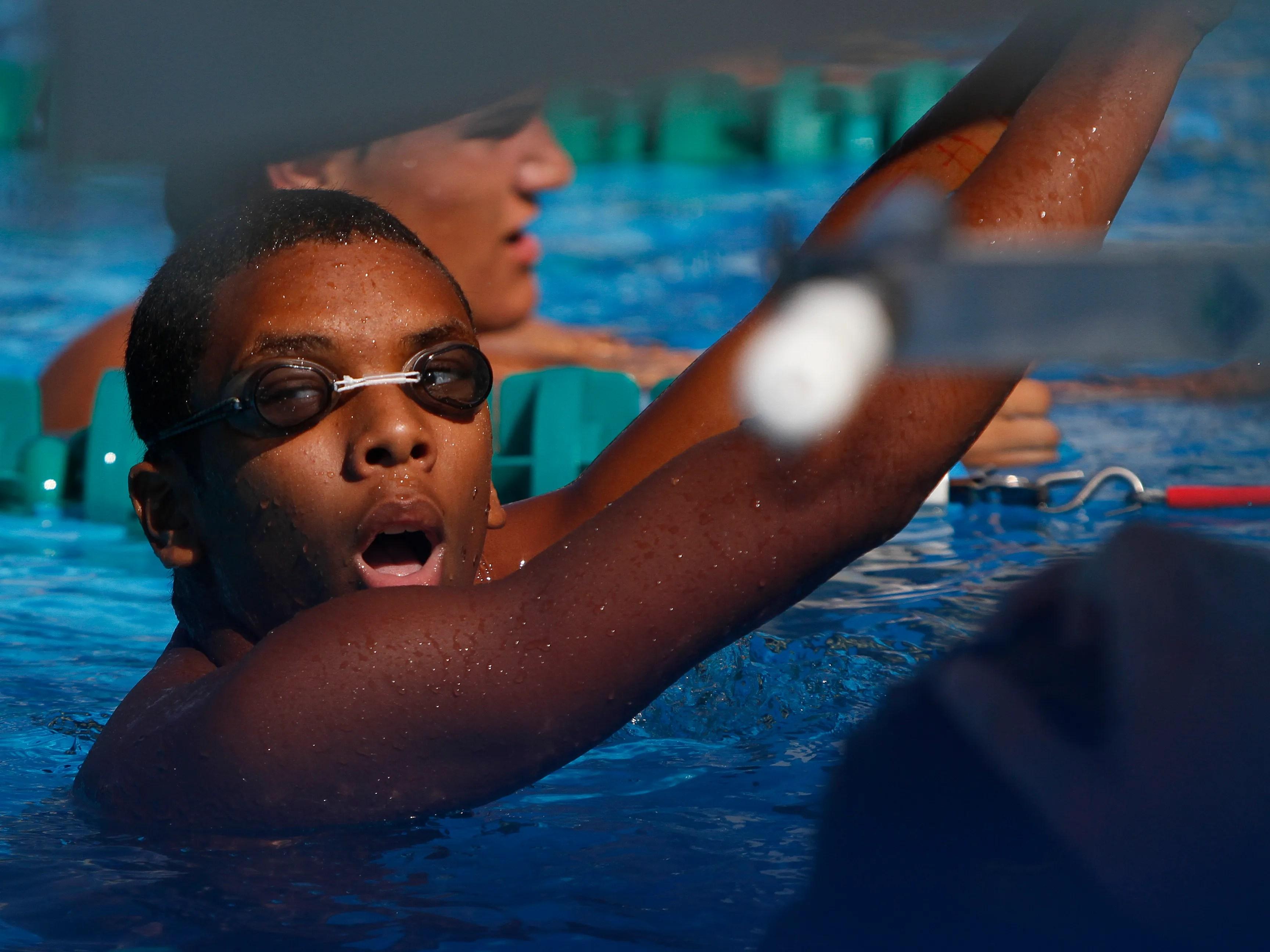 Estero cape coral swims teams have big day in pool usa - John martinez school new haven swimming pool ...