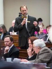 Rep. Martin LaLonde, D-South Burlington, explains his