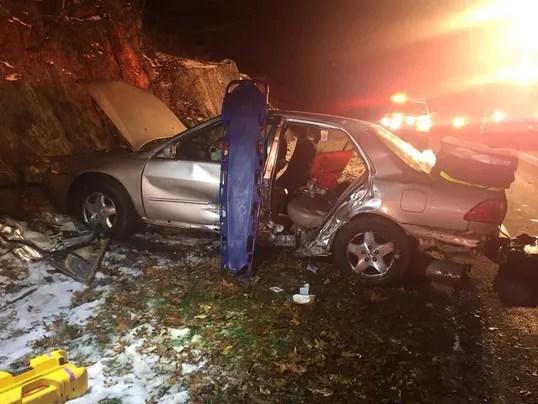 Yorktown: Four injured in Taconic crash