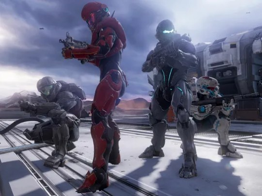 A screen shot from the video game 'Halo 5: Guardians,'