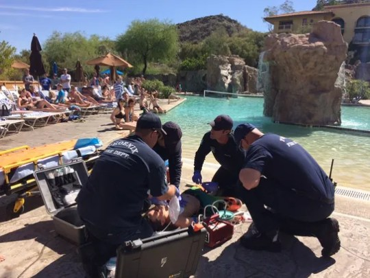 The Phoenix Fire Department demonstrates life-saving