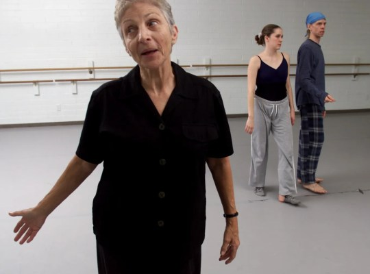 Choreographer Frances Smith Cohen in a 2002 rehearsal for Center Dance Ensemble, the company she founded in Phoenix. Cohen died May 14, 2019.