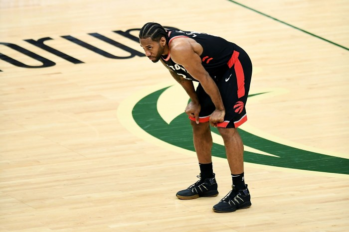Kawhi Leonard's game-high 31 points were not enough for the Raptors.