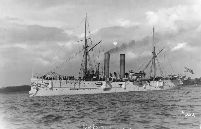 """Ships bearing the name """"Detroit"""" on behalf of the United States Navy began patrolling the world's waters over two centuries ago and have played a role in events that shaped history. This is the third ship named USS Detroit, launched in Baltimore and commissioned on July 20, 1893."""