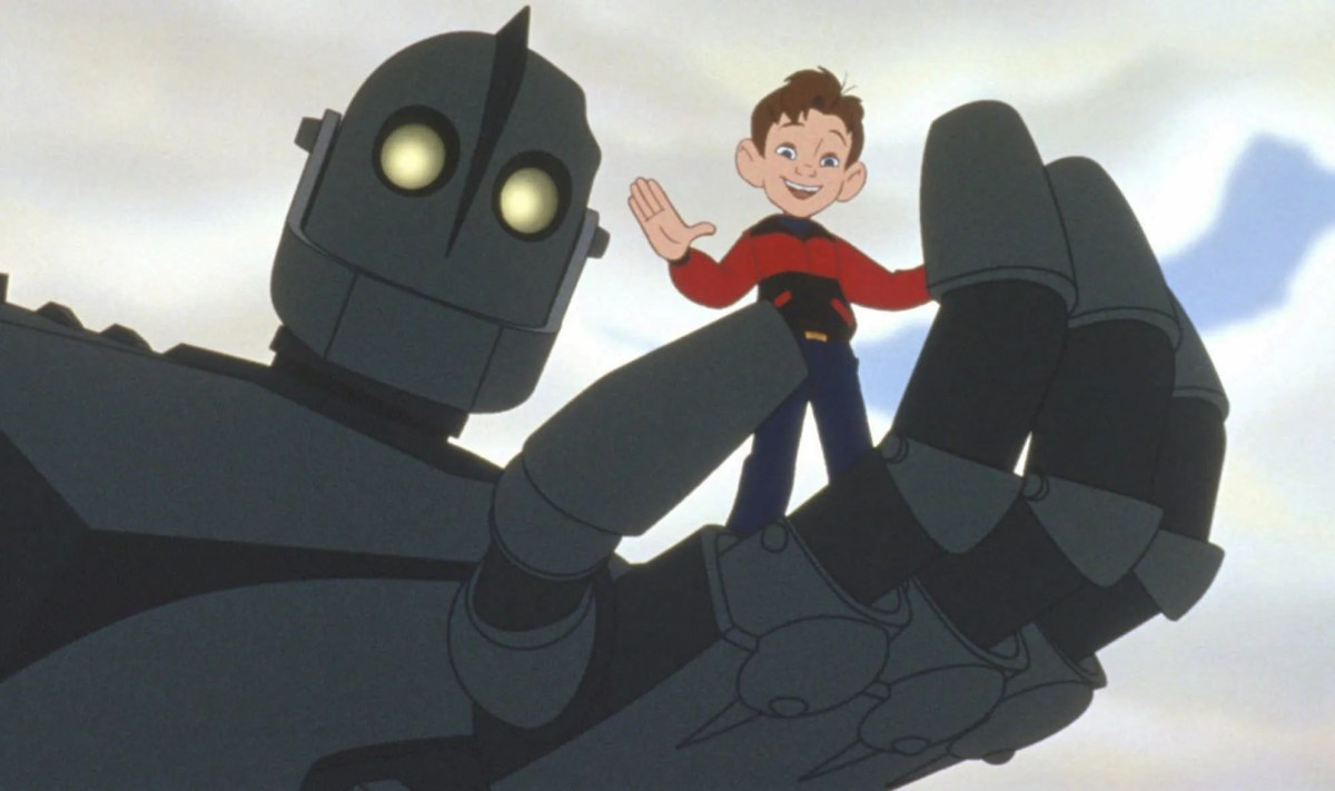 """The Iron Giant (voiced by Vin Diesel) and Hogarth Hughes (voiced by Eli Marienthal) star in the """"The Iron Giant,"""" the story of a young boy who befriends an alien robot."""