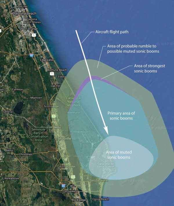 Reminder NASA sonic boom testing begins near Kennedy