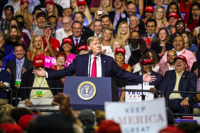 Trump jokes about not acting 'presidential' during Florida rally