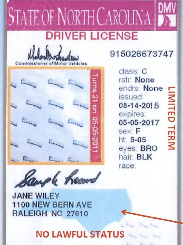 North North Drivers License License 2013 Drivers Carolina Carolina 2013