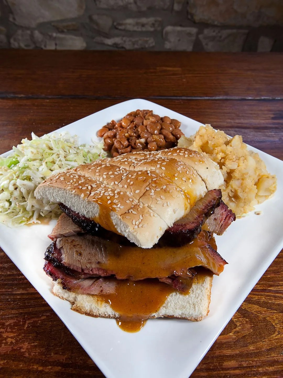 At Austin Bergstrom International Airport, Salt Lick Bar-B-Que sold more than 54.5 tons of brisket in the form of tacos, platters, sandwiches, and whole frozen briskets to-go last year.