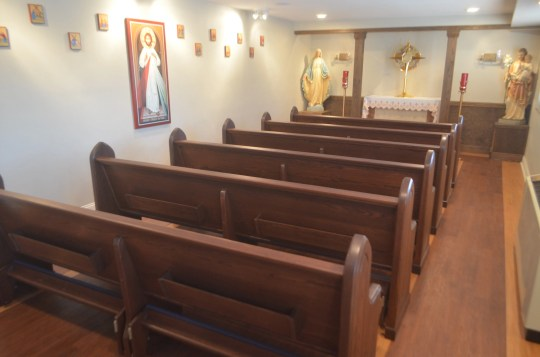 Inside the new adoration chapel at Sacred Heart Cathedral School.