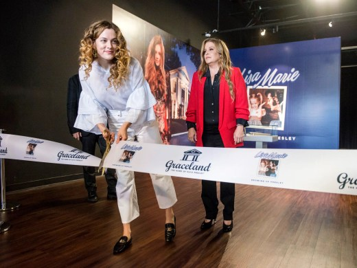 August 10, 2018 - Lisa Marie Presley, right, and her daughter Riley Keough participate in a private ribbon-cutting event for the new exhibit