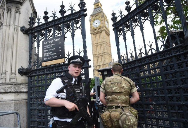 British police say car crash outside British Parliament was terror attack