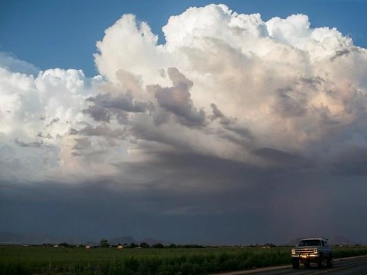 Monsoon farm land clouds