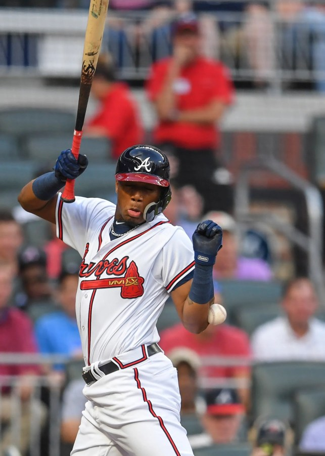 Braves' Ronald Acuña hit by pitch in bid for fourth consecutive leadoff homer
