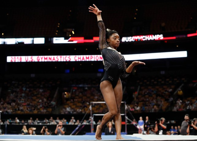 Simone Biles dominates in her return to the US gymnastics championships