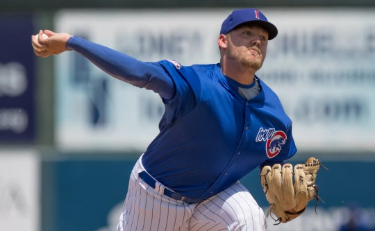 Iowa Cubs pitcher Dakota Mekkes has risen rapidly through the system this season.